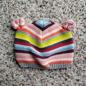 Rainbow bear hat